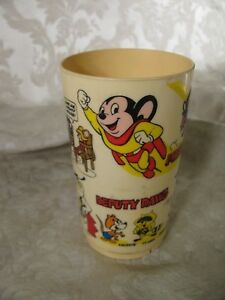 Terrytoons Vaicom 1997 Mighty Mouse Full Relief Cup or Mug MIB #G608