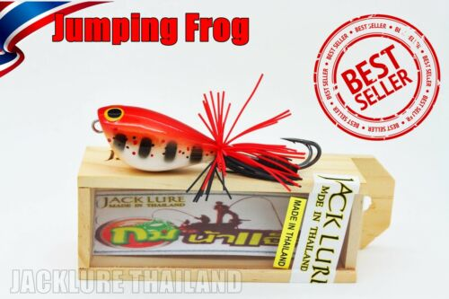 Fishing Lure Jumping Frog 4.5 or 5.5 cm Wood Handmade Topwater Outdoor Thailand