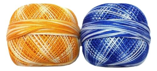 SET LOT 10 SHADED Colors Cotton Yarn Thread Crochet Lace Knitting Embroidery DIY