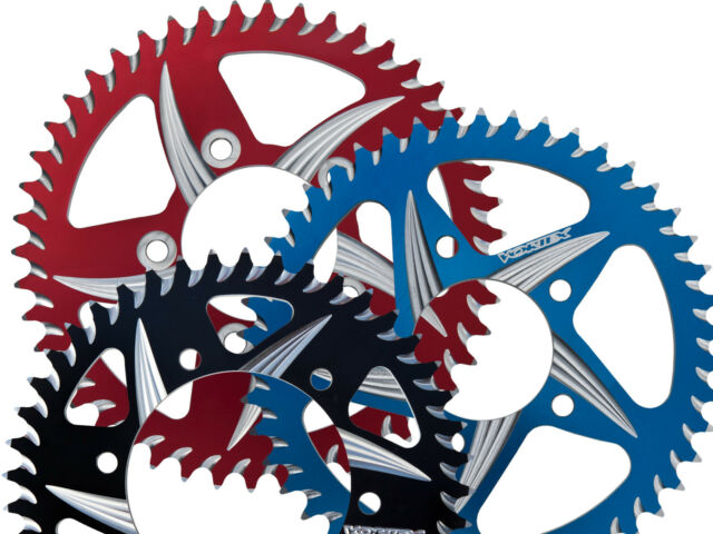 SUZUKI 2000-09 SV650S VORTEX CAT5 520 REAR SPROCKET 34-54 BLUE BLACK RED