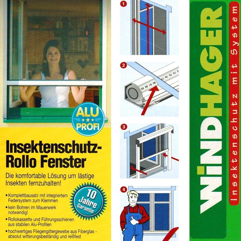 Windhager Insektenschutz Fliegengitter Rollo Fenster 100x160cm Weiß Braun Grau  | Bevorzugtes Material  | Diversified In Packaging  | Genialität  | Lassen Sie unsere Produkte in die Welt gehen