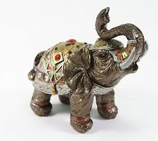 "Feng Shui 4"" Bronze Elephant Figurine Wealth Lucky Figurine Gift & Home Decor"