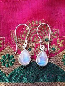 315b-Rainbow-Moonstone-Solid-925-Sterling-Silver-gemstone-earrings-rrp-44-95