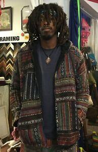 New-size-Medium-Mens-unisex-Lined-Hooded-Hippie-Jacket