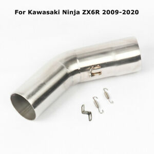 For Kawasaki Ninja ZX6R 2009-2020 Motorcycle Exhaust Muffler Middle Connect Pipe