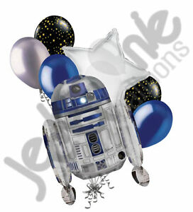 7 pc r2 d2 star wars balloon bouquet party decoration for 7 star balloon decoration