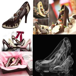 3D Talon Haut Chaussure chocolat moule bonbons gâteau gelée moule mariage décoration À faire soi-même