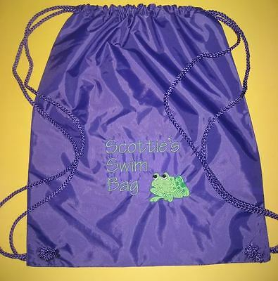 Personalized Boys Girls Drawstring BACKPACK Cinch Bag Tote Sports SOCCER