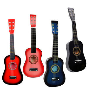 "23"" Beginners Practice Acoustic 4 Colors Guitar with Pick 6 String Children Kids"