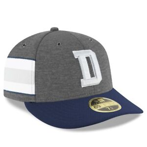 DALLAS COWBOYS NFL NEW ERA 59FIFTY GRAY LOW PROFILE SIDELINE HOME ... d1e2c081f