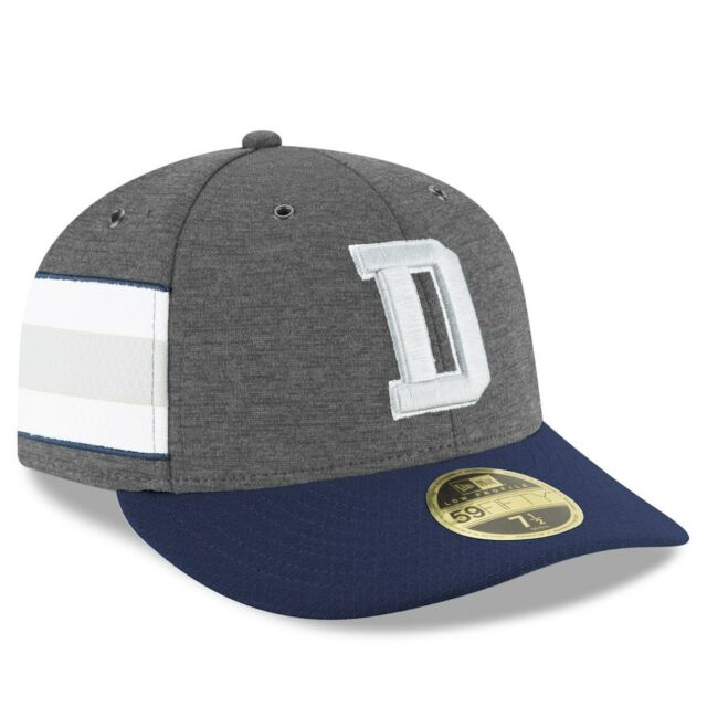 DALLAS COWBOYS NFL NEW ERA 59FIFTY GRAY LOW PROFILE SIDELINE HOME FITTED  HAT CAP 9d92119b8030