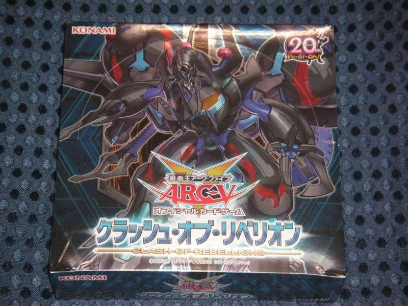 YuGiOh ARC-V OCG Clash crash of Rebellions Booster Box Japanese KONAMI JAPAN F S