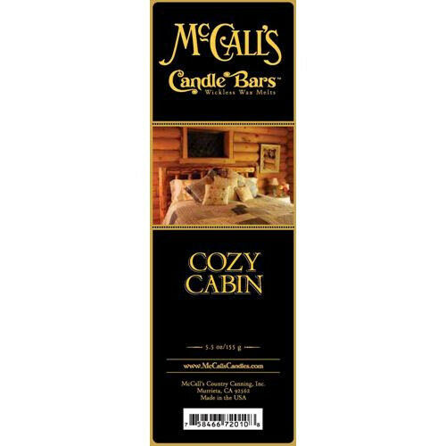Cozy Cabin McCall/'s Candles Candle Bar 5.5 oz