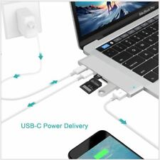 MacBook Pro Air 6in1 Type-C Hub Dual Adapter Multiport Card Reader USB 3.1