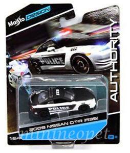 MAISTO-15494-16GTR-AUTHORITY-2009-NISSAN-SKYLINE-GT-R-R35-1-64-POLICE-CAR