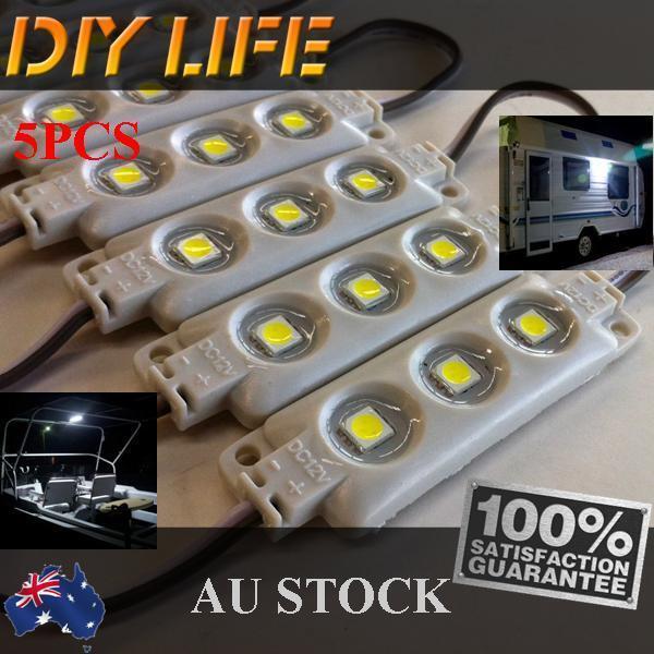 Waterproof 12V LED Strip Module Light Cool white Camping Boat Caravan Car IP66