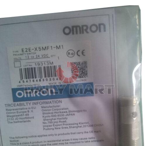 NEUF OMRON E2E-X5MF1-M1 Court Baril Inductif Capteur de proximité 200 mA PNP M12 1PC