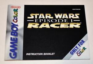MANUAL ONLY Star Wars Episode 1 Racer Nintendo Gameboy Color Instruction Booklet