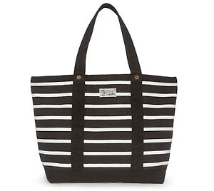 2a25a520f New Mens Polo Ralph Lauren Black White Striped Canvas Tote Bag | eBay