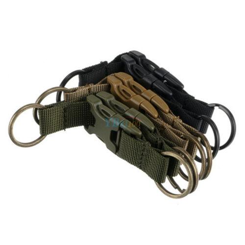 Tactical Molle Bag Hanging Belt Carabiner Hooks Metal Webbing Buckle Strap Clips