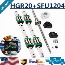 Hgr20 L200 1500mm 2pcs Linear Guide Rail 1pcs Sfu1204 Ballscrew Bkbf10 Cnc