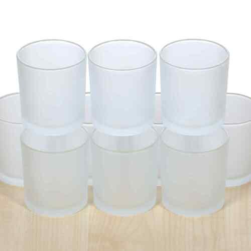 Gefrostetes votivglas lumignons verres Ø 70 mm lumignon Photophore lumignons