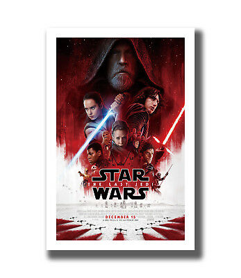 Hot New Star Wars The Last Jedi VIII 2017 Fabric Poster Art TY760-20x30 24x36