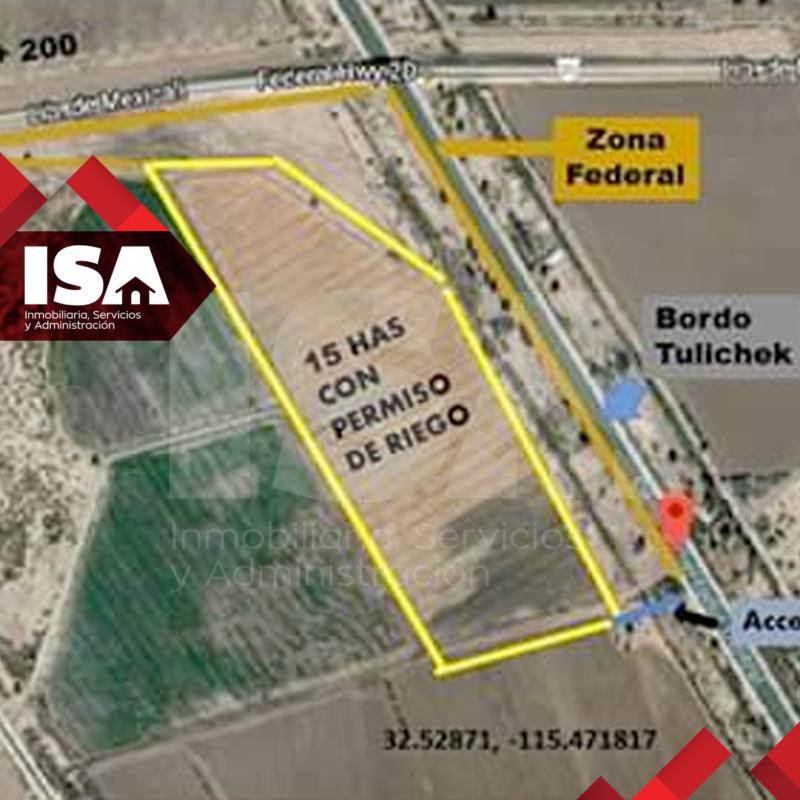 Venta de 15 Hectáreas Col. Ahumadita a unos metros de la Carretera a Tijuana