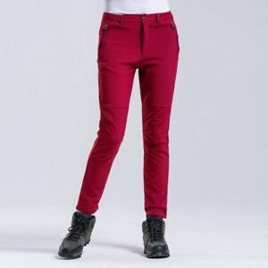 Women's Waterproof Windproof Snow Pants Warm Fleece Outdoor Hiking Ski Trousers