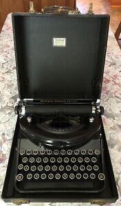 Remington Noiseless Typewriter Portable Vintage 1940s N- serial number