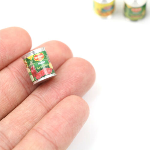 Food Fruit Cans 12PCS Kitchen Dinning Room 1:12 Dollhouse Miniature TEUS