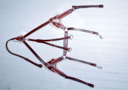 Xfull//COMPLET//COB//poney en promotion Martingale Cherry Brown Nouveau 5 Point Plastron