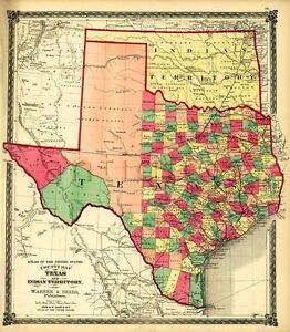 Details about TEXAS Counties & Indian Territory 1875 Vintage Poster on indian tribes around the usa, states of usa, flowers of usa, google map of indiana usa, indian communities in usa, indian tribes of america, indian map of the united states, indian nations of north america, home of usa, indian tribes in usa,