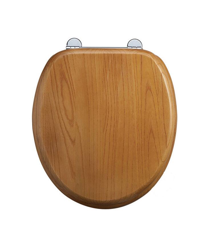 Burlington en bois traditionnel chêne traditionnel bois de toilette siège de toilette S11, avec ou sans poignées a213e9