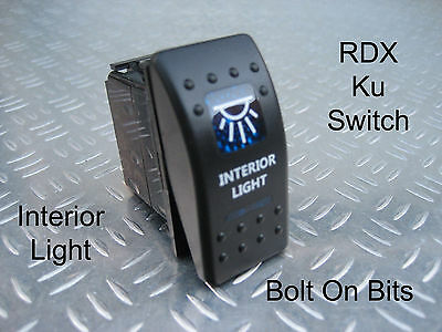 RDX Ku BLUE Interior Light/Lamp Switch OFF/ON Defender Dashboard Console Kit Car