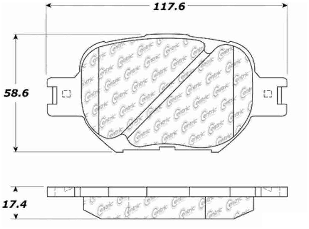 LOW DUST 105.08170 + Hardware Kit FRONT SET Posi Quiet Ceramic Brake Disc Pads
