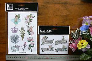 Floral-Dreams-Sticker-Tags-9-x-Fairy-Princess-amp-4-x-Words-Av-4x6cm-MultiList