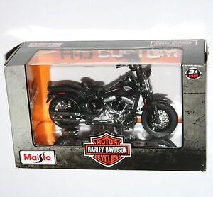 Maisto-Harley-Davidson-2008-FLSTSB-CROSS-BONES-Black-Model-Scale-1-18