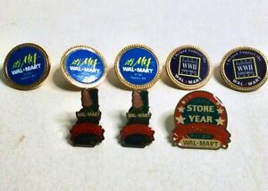 Vintage-WALMART-Employee-Lapel-Pins-Lot-New-Hampshire-Massachusetts-WWII