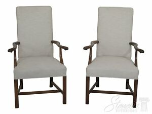 30394EC-Pair-Chippendale-Style-Mahogany-Upholstered-Arm-Chairs