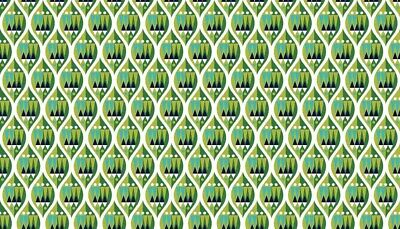 MAKOWER WRAP IT UP BRIGHT GREEN GEOMETRIC PRINT 100/% COTTON FABRIC 1608G