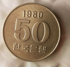 1908-Sudafrica-Korea-50-Won-Excelente-Vintage-Moneda-Ganga-Bin-121