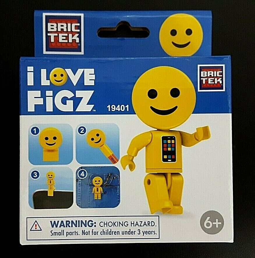 """i Love Figz"" Smiley Brictek Emoji Collection Multi-usage Construction Figurine"