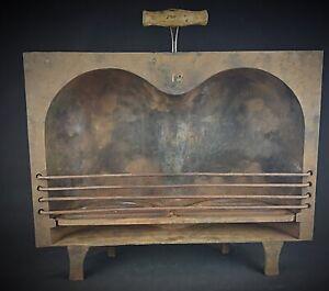 Piece-de-musee-Coquille-a-rotir-n-18-paire-de-fesses-en-fonte-Ancien-XIXeme