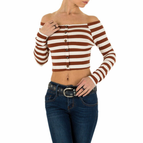 Damen Off Shoulder Langarm Shirt 8113 Ital-design