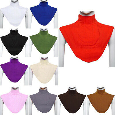 Muslim Womens Turtle Neck Collar Scarf Hijab Islamic Cover Traditional Comfy