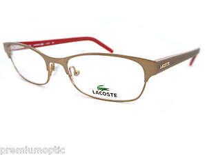 e43da6c1d4e8 LACOSTE Ladies Reading Glasses L2137 704 Gold Brown Designer Optical ...