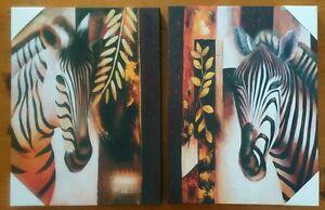 Zebra-Wall-Art-Picture-Home-decor-20-034-x16-034-inch