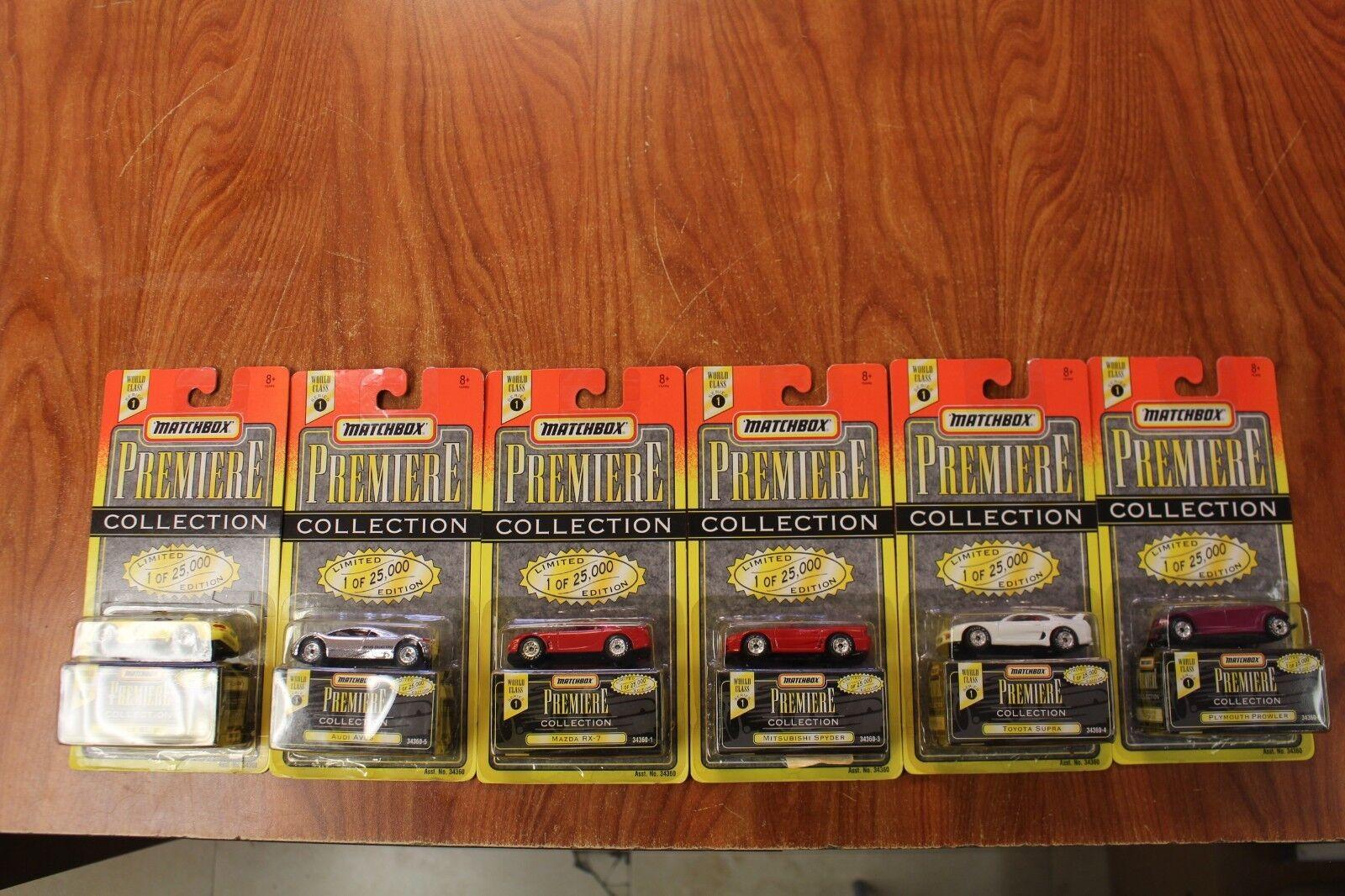 60% de descuento Juego completo de clase mundial Matchbox Premiere Colección Serie Serie Serie 1 1995 Moc todos 6  alto descuento
