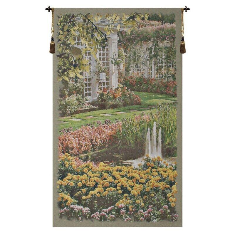 Jardin Grünical I Belgian Tapestry Wall Hanging H 57  x W 33